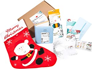 Phomemo Stocking Gift Bags for Children, Friends, Families in Christmas, New Year, Inculded 7 Kind of Gifts (Gift Card, Star Lights, Album, Christmas Stockin, Stickers)