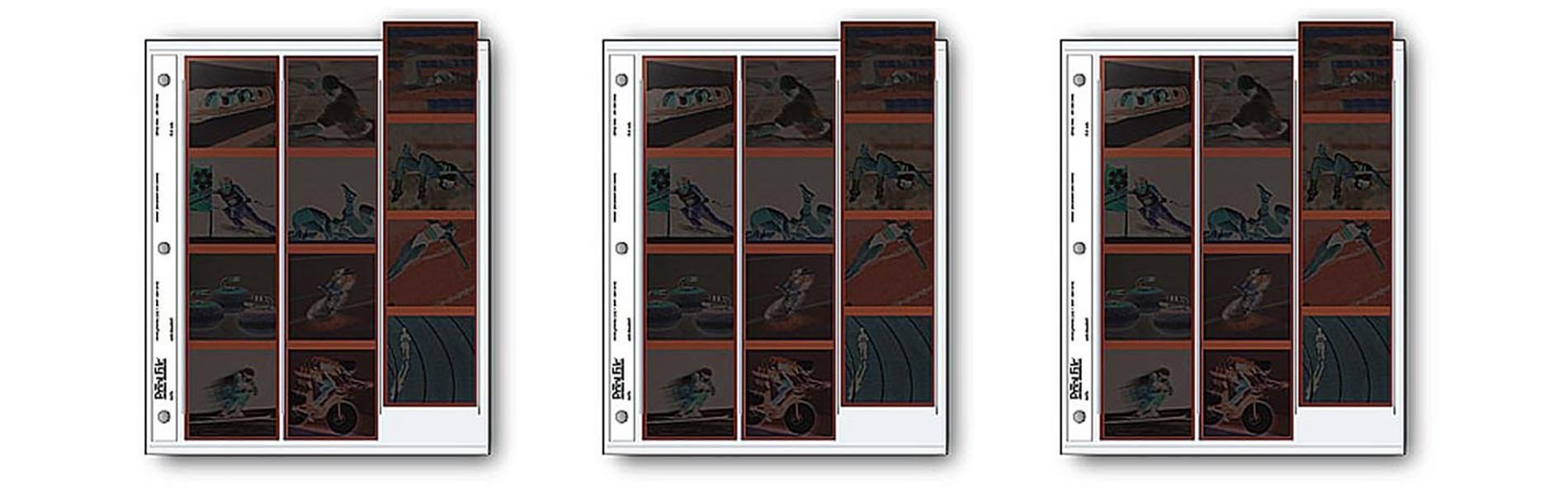 Archival 120 Size Negative Pages Holds Three Strips of Four 6 x 6 Frames, 25pc 3pack