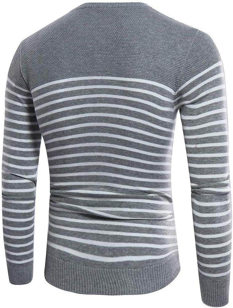 SXZG Camisa de Hombre Suéter con Cuello en V Oscuro en Relieve Suéter A Rayas de Costura Delgada para Hombres Coreanos: Amazon.es: Ropa y accesorios