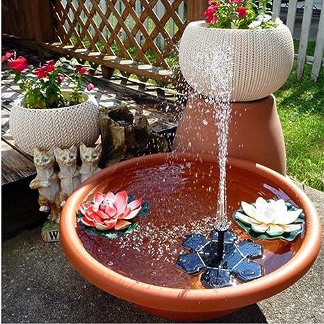 Solar powered fuente agua flotante jardín estanque bomba para baño de pájaro, tanque de peces, estanque pequeño, circulación de agua para el oxígeno, jardín patio decoración, plantas de riego kits por: Amazon.es: