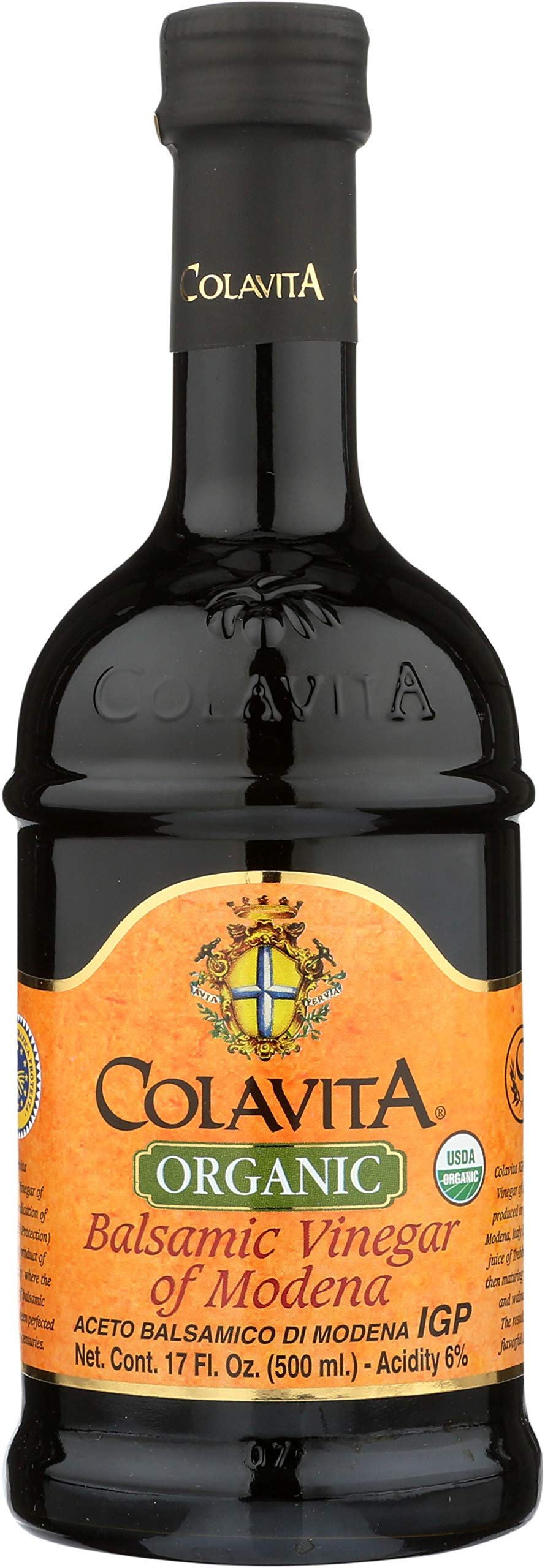 Colavita Organic Balsamic Vinegar of Modena, 17 Ounce (Pack of 6) by Colavita