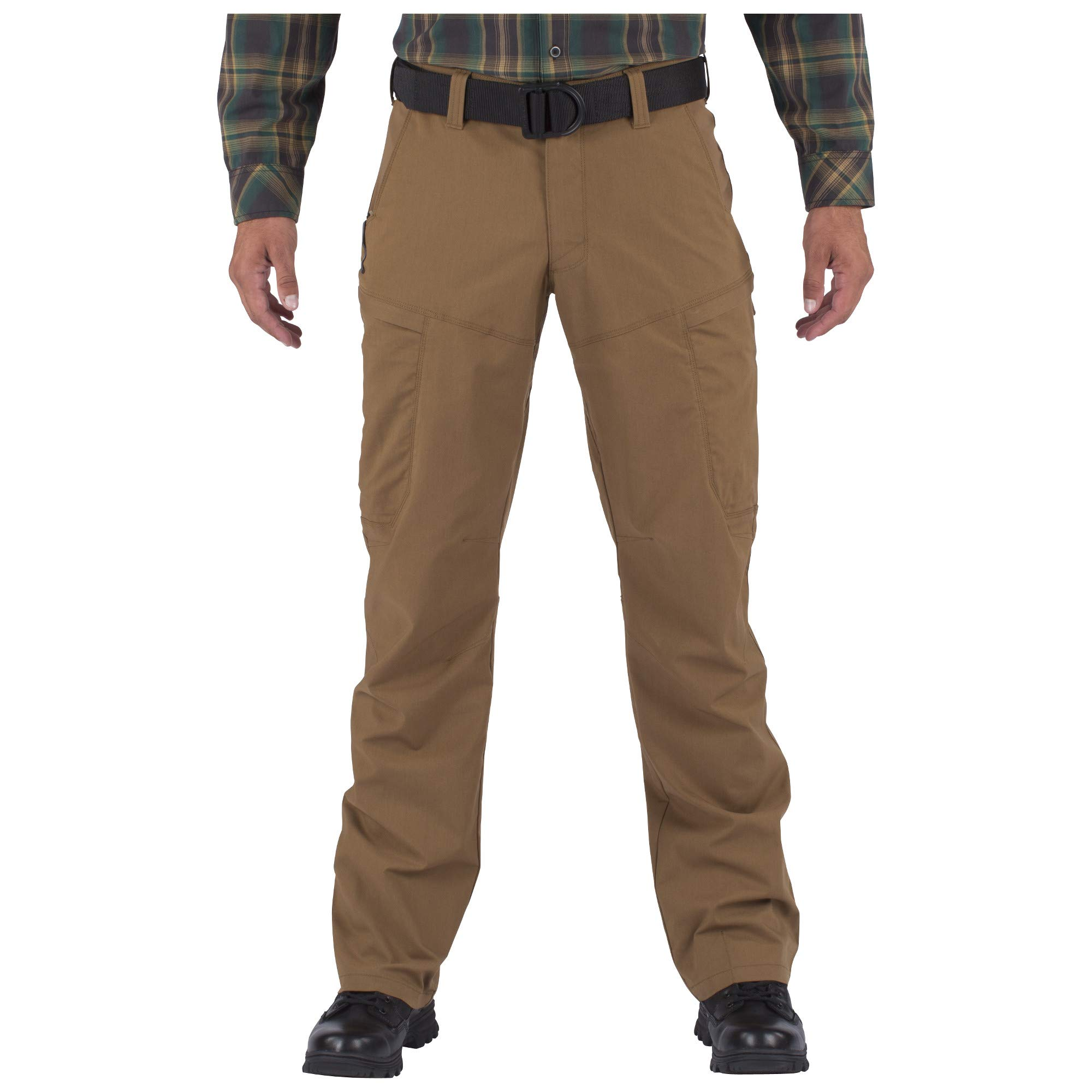 5.11 Men's APEX EDC Stealth Cargo Pocket Tactical Pant Style 74434, Battle Brown, 28W x 34L by 5.11