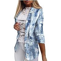 pamkyaemi Business Blazer - Abrigo de mujer elegante con solapa, color degradado, chaqueta de manga larga, chaqueta de…