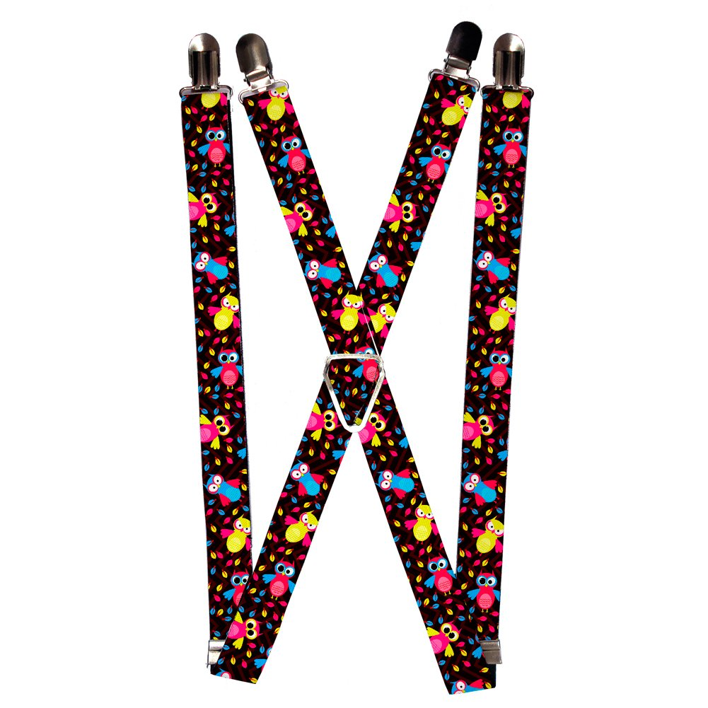 Buckle Down Unisex Suspenders, Owls, One Size Buckle-Down SP-W30631