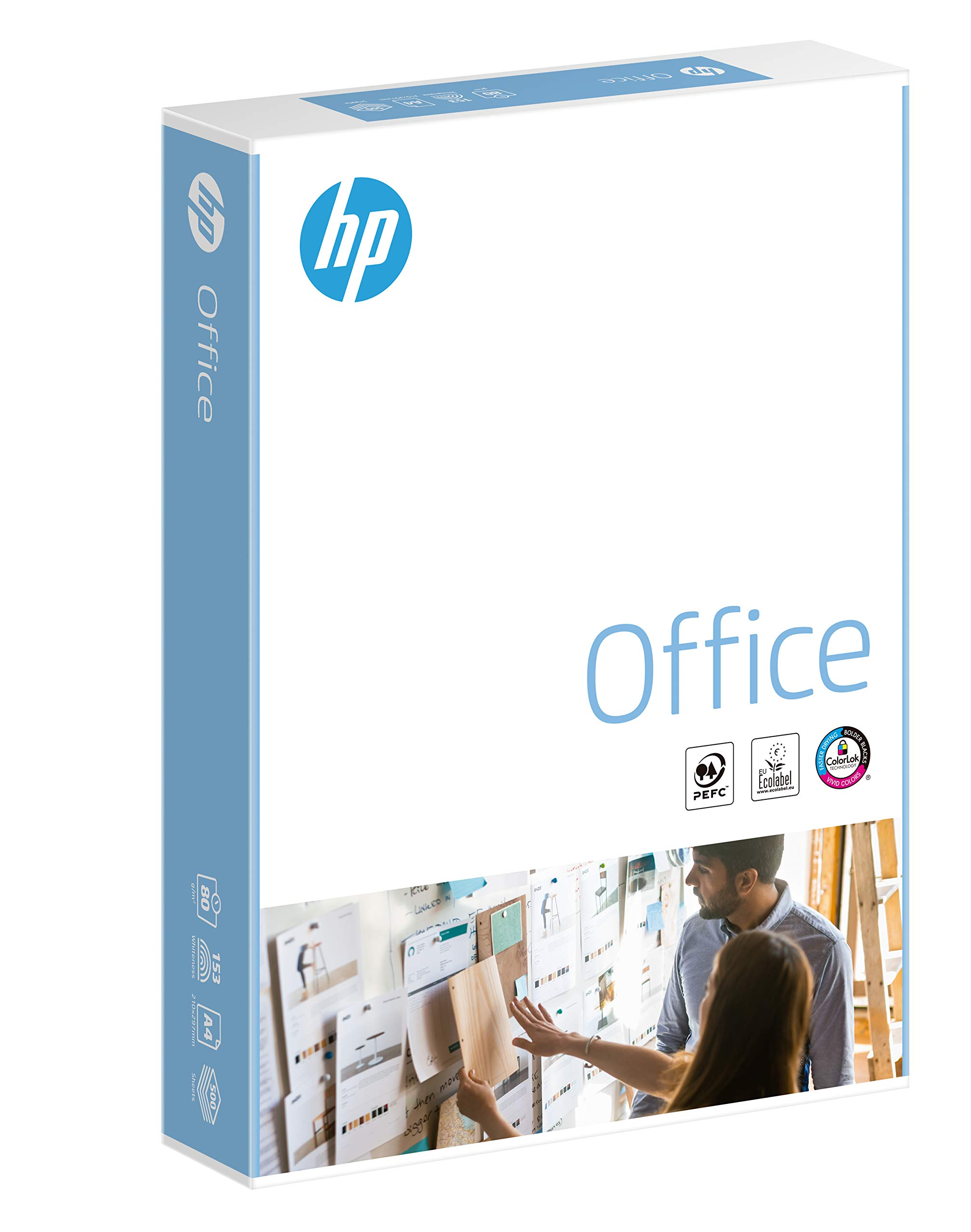 HP Office A4 210x297mm 80gsm 500sheets/Ream. by HP