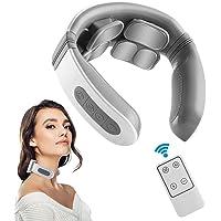 Komake Nekmassageapparaat, elektrisch pulshalsmassageapparaat met warmte voor pijnverlichting, 5 modi, 18 niveaus, smart…