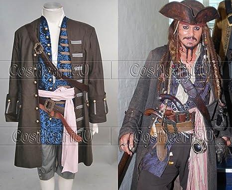 CosheartEU Piratas del Caribe 4: Juego para Disfraz de Jack ...