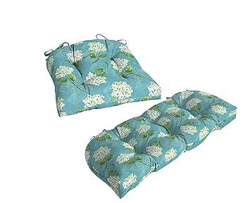 Amazon.com: Mainstays, Blue Floral 18 x 41.5 pulgadas Cojín ...