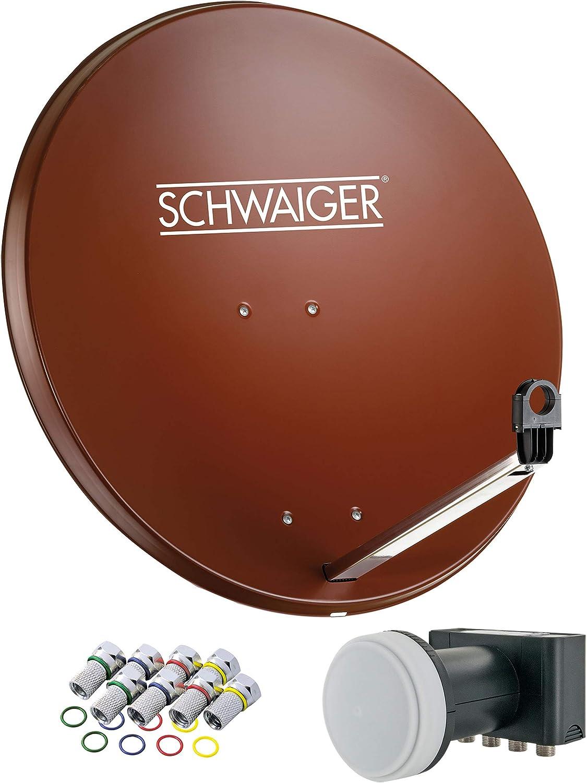 Schwaiger 524 Sat Anlage Satellitenschüssel Mit Quad Elektronik