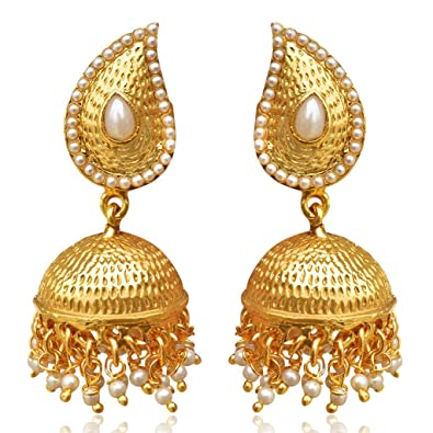 earrings hayagi artificial earring online grande buy golden pearl products