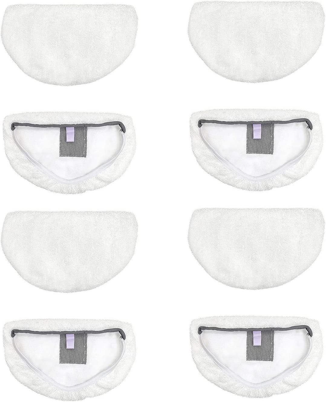 Fushing 8Pcs Steam Mop Pads, Washable Microfiber Cleaning Steamer Replacement Pads for Bissell Powerfresh Steam Mop 1940 1440 1544 1806 2075 Series, Model 1940 1940a 1940w 1806 2075 1544a 5938
