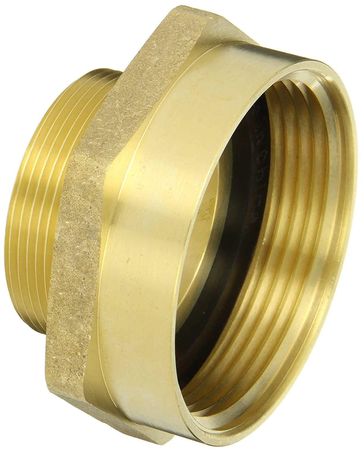 Campbell Fittings FM25F20T Female to Male Nipple, 2.5'' ID, Brass, 2-1/2'' NST x 2'' NPT