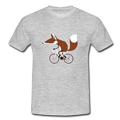 b57a0ab61e03 Spreadshirt Fuchs Auf Fahrrad Cycling Fox Männer T-Shirt  Amazon.de   Bekleidung