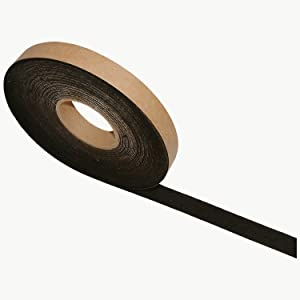 FELT-06 BLK125 JVCC FELT-06 Polyester Felt Tape: 1 Inches x 75 Feet, Black
