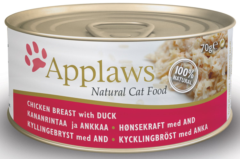 Applaws Comida gato húmedo Comida gato pecho de pollo con Pato - 70 gr: Amazon.es: Productos para mascotas