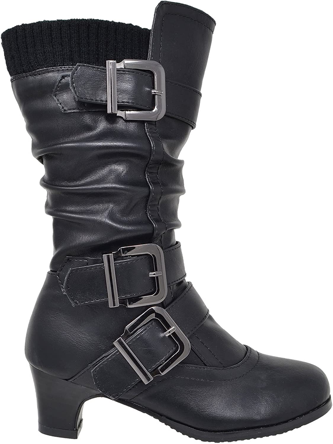 leather girls boots