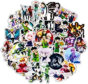 Hunter X Hunter Japanese Cartoon Stickers 50pcs Teens Anime Decal Stickers for Laptop Water Bottles Skateboard Car Luggage Computer