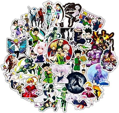 50Pcs Anime HunterXHunter Graffiti Stickers For Laptop Luggage Skateboard Decals