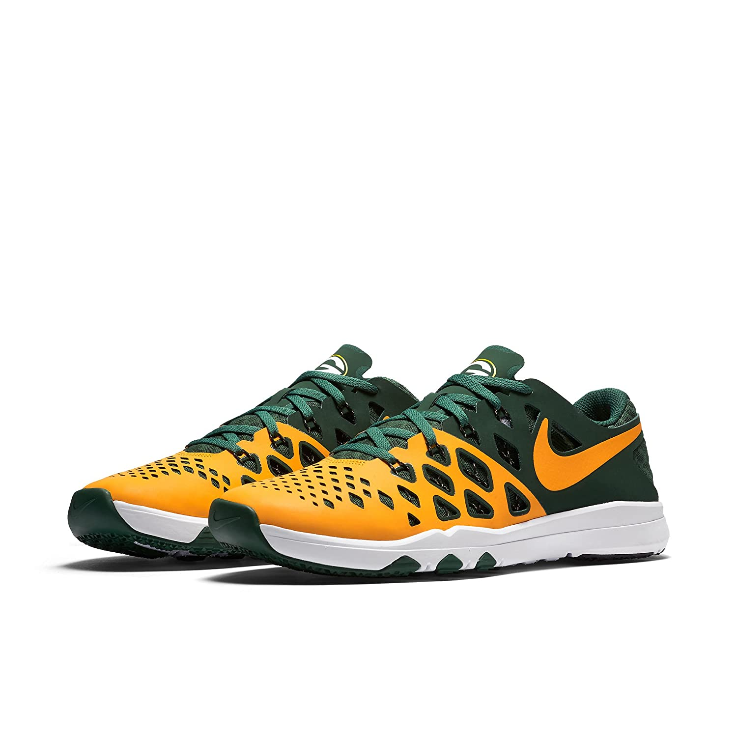 sports shoes c013f 349d5 Amazon.com   NIKE Train Speed 4 AMP NFL Green Bay Packers Limited Edition  Shoes Size Mens 9 US - Reflective Gold   Fitness   Cross-Training