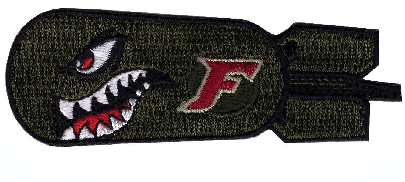 Hook Fastener Dropping F Bomb World War 2 Style Shark Teeth Morale Tactical Emblem Patch Parche Bordado Gancho Por Titan One Europe