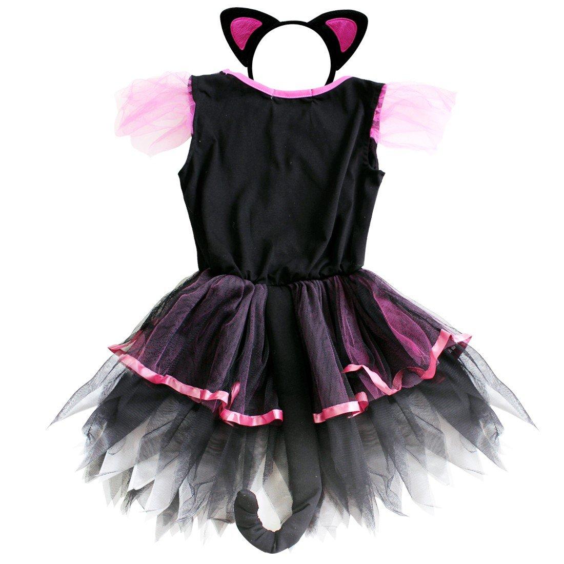 iEFiEL Girls Kitty Cat Animal Tutu Costume Dress Birthday Clothing
