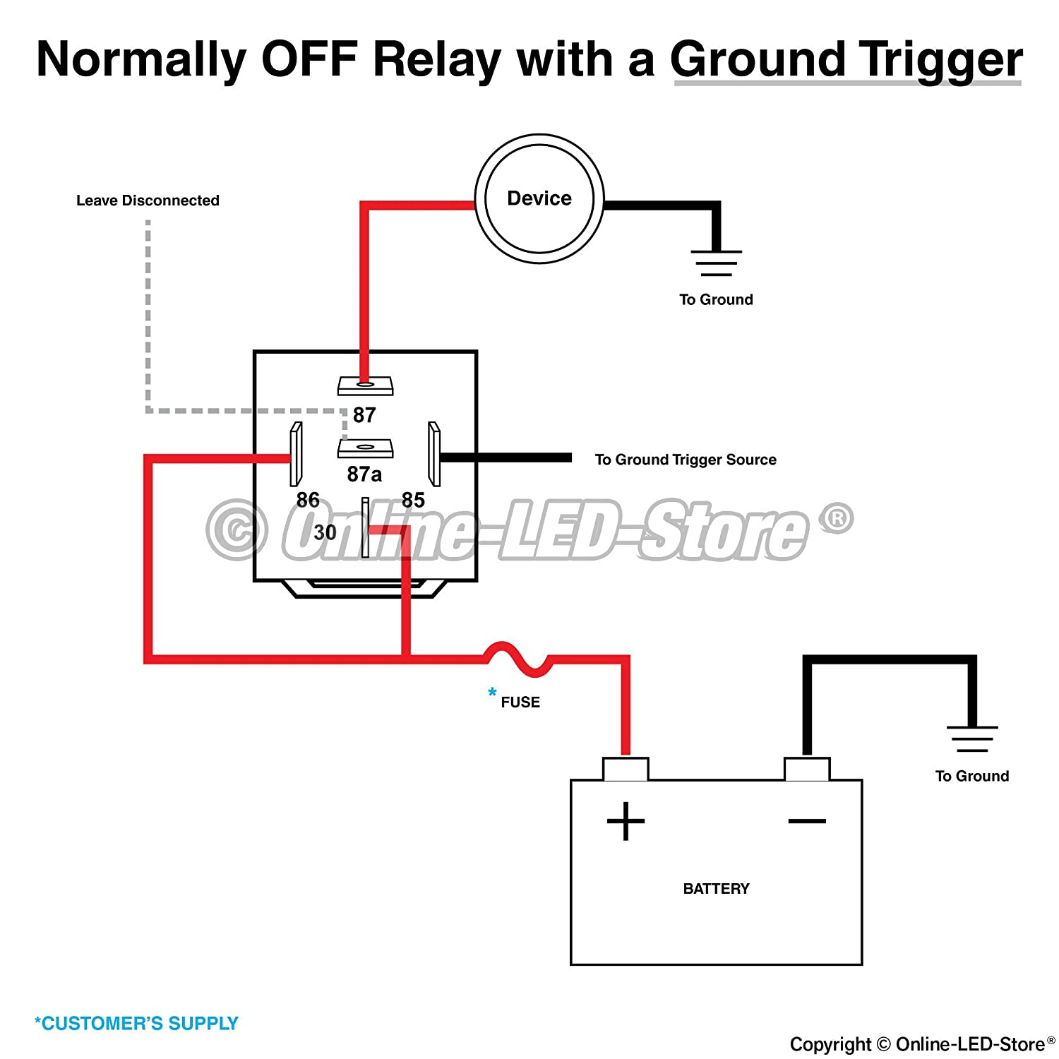 Online Led Store Ols 12v 40 30 Amp 5 Pin Spdt Bosch Relay Datasheet Style Electrical Automotive