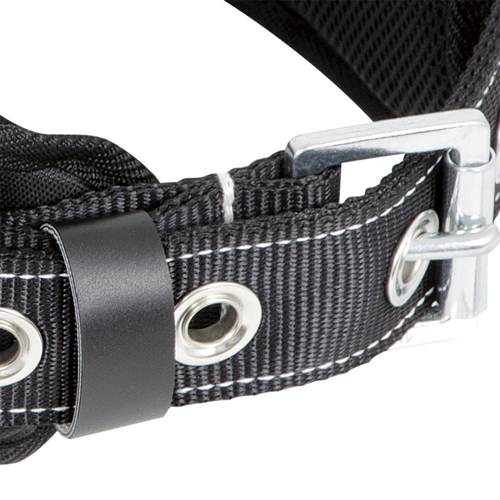 XL 1 D-Ring V8056014 Peakworks Fall Protection Safety Harness Restraint Belt with Padded Lumbar Support Black