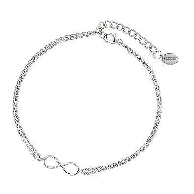 46504f6b8649 DOOSTI Damen Armband Unendlichkeit 925 Silber rhodiniert  Amazon.de  Schmuck