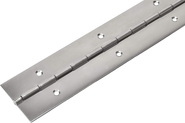 HKB/® Hochwertiges Edelstahl Stangenscharnier 2000 x 40 x 1 mm V2A nirosta/® gelocht Klavierband Made in Germany 9516