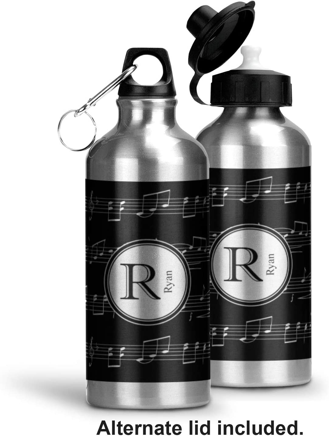 White 3dRose Clarinet Music Note Musical Instrument Sports Water Bottle 21 oz