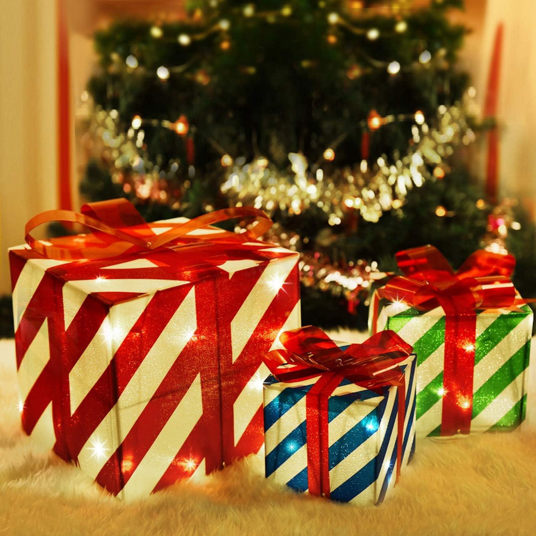 Box red and green Gift Box  Christmas gift Box surprise Christmas  Christmas gift Box Vintage Handmade box
