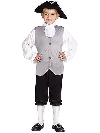 sc 1 st  Amazon.com & Amazon.com: Fun World Boys Colonial Children Costume: Toys u0026 Games