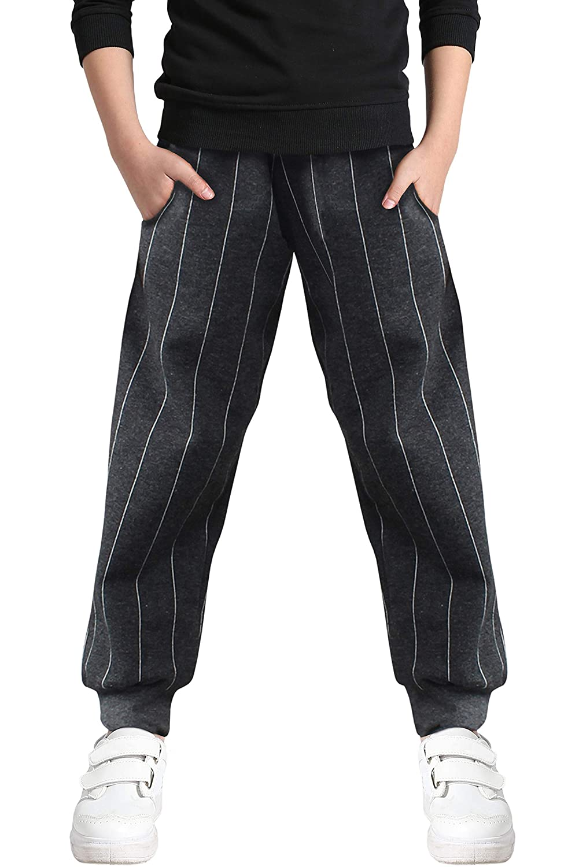 Welity Boys' Cotton Jogger Pants, 4-12 Years