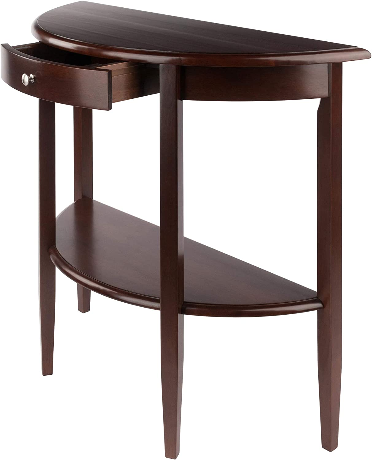 Winsome Occasional Table Wood Antique Walnut 39 2 W X 33 6 H X 15 7 D Amazon Co Uk Kitchen Home