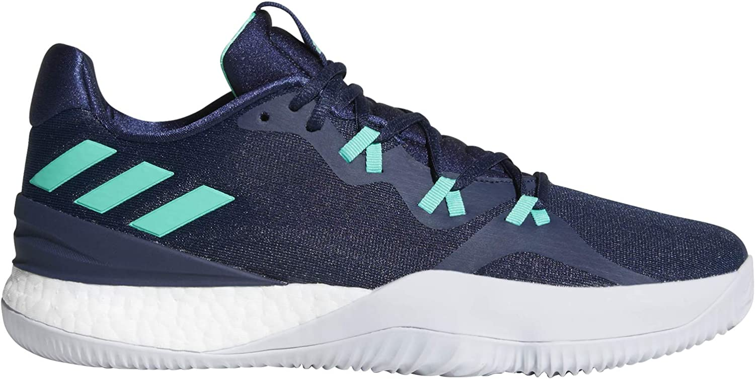 adidas Crazy Light Boost 2018 Mens Basketball Trainers Sneakers UK 8 US 9 EU 42.5, Navy White DB1068