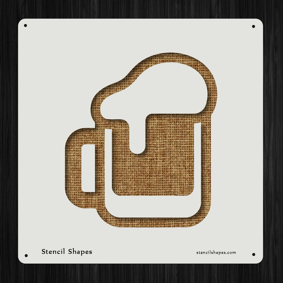 Beer Pint Party Mug Lager Style 10686 DIY Plastic Stencil Acrylic Mylar Reusable StencilShapes