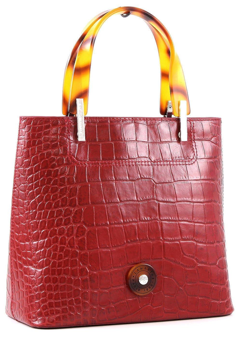 765f3f77ad5bd Lamarthe Portofino Cocco Henkeltasche Leder 25 cm  Amazon.de  Schuhe    Handtaschen