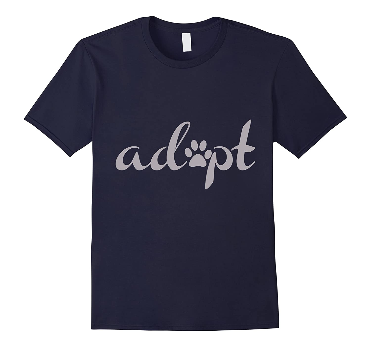 Adopt Pet Adoption  Rescue T-shirt with Paw Print-TD