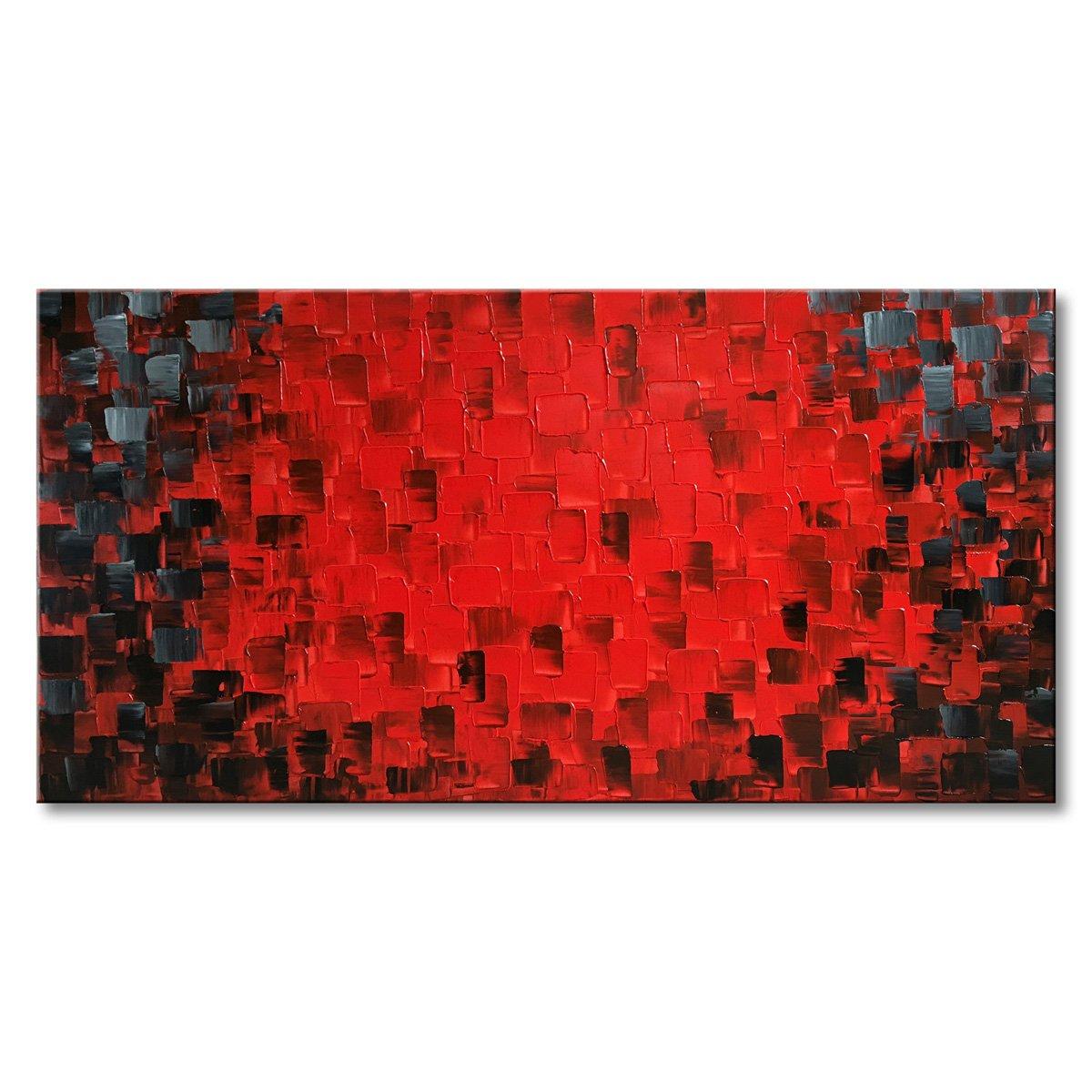 Seekland art modern texture oil painting handmade canvas red abstract wall art wall decoration artwork no