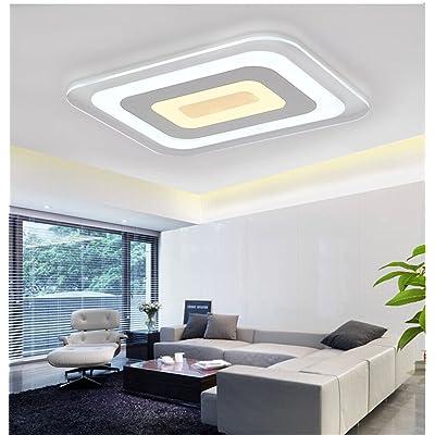 ANGEELEE Minimaliste et moderne plafonnier LED ultra-fin, lumière ...