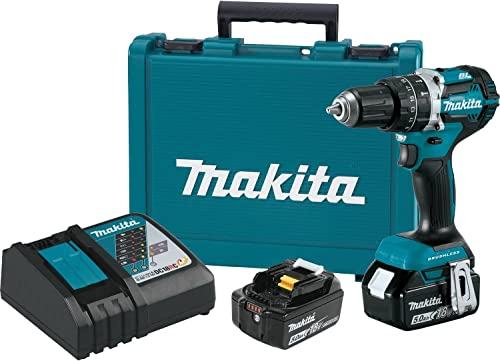 Makita XPH12T 18V LXT Lithium-Ion Compact Brushless Cordless 1 2 Hammer Driver-Drill Kit