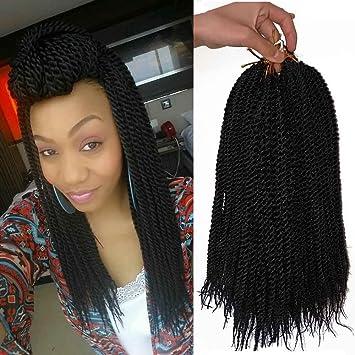 Amazon Com 14 Inches Senegalese Twist Crochet Hair Braids