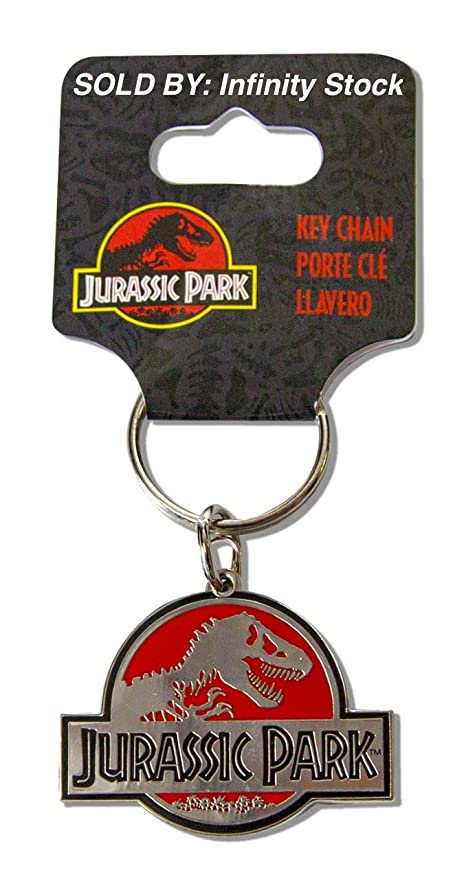 Amazon.com: Infinity Stock Jurassic Park Metal Key Chain ...
