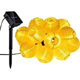 Mpow 20 LED Lanterne Stringa Solare, Stringa Decorativa Impermeabile per le Feste, Casa, Giardino, Terrazza, Luci Natalizie a 4.5m.