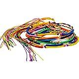 【10個セット】マルチカラー ブレスレット ミサンガ アンクレット ユニセックス フリーサイ ズ ;AMMI-054