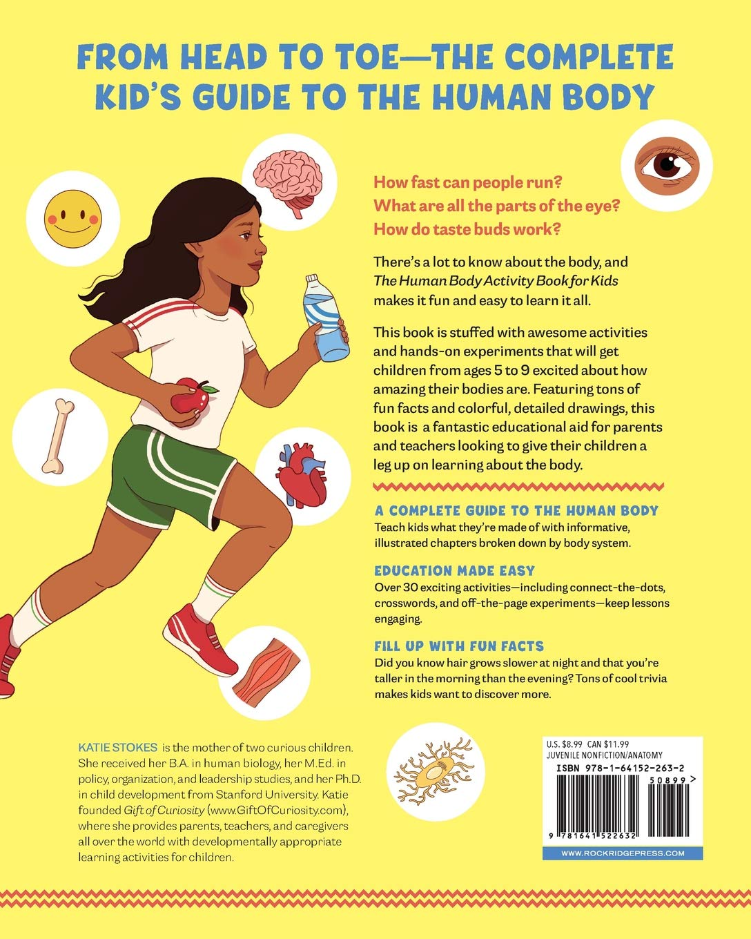 Human Body Activity Book For Kids Hands On Fun For Grades K 3