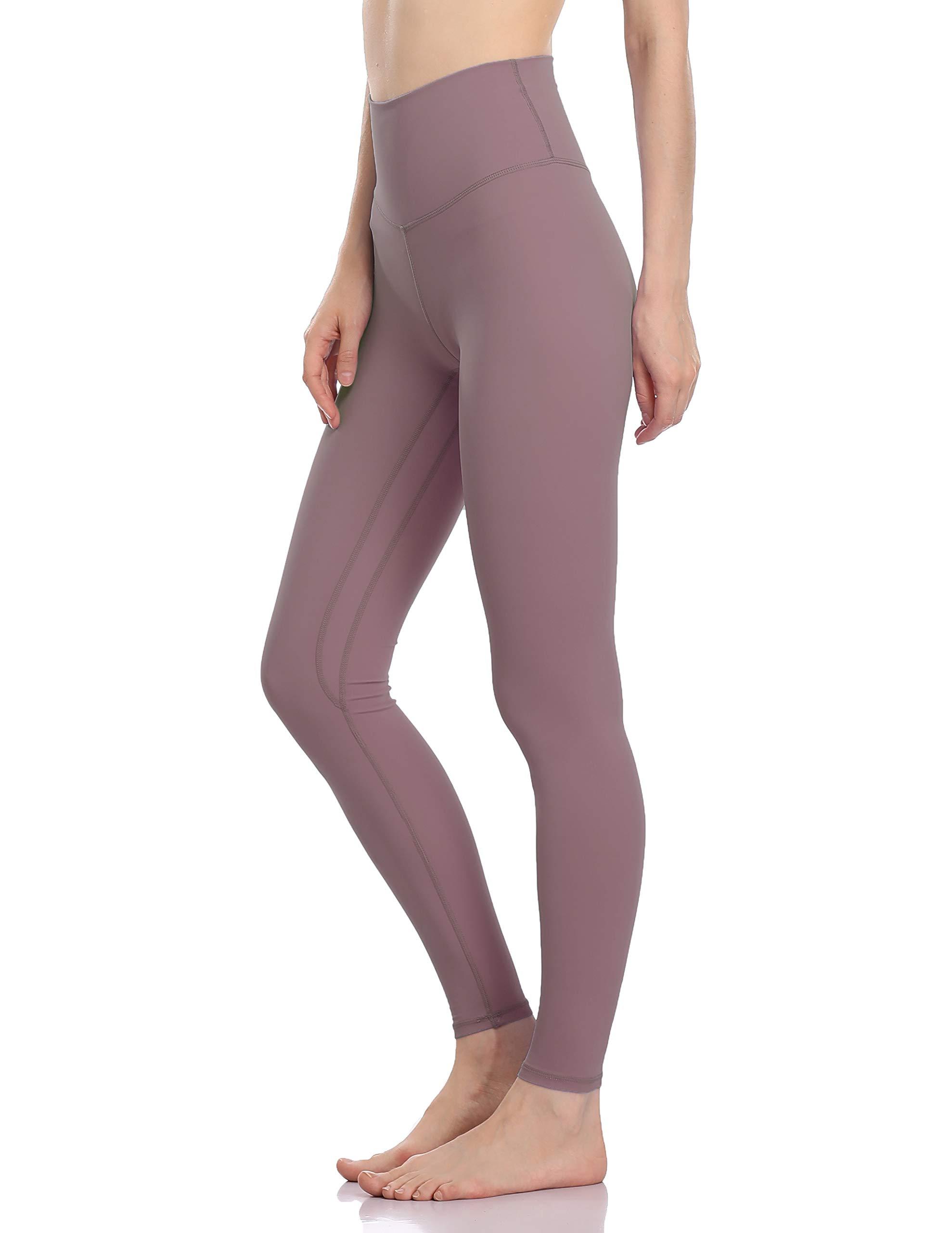 Colorfulkoala Women's Buttery Soft High Waisted Yoga Pants Full-Length Leggings (M, Dusty Red)