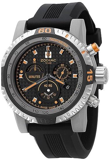 Zodiac ZO7102 - Reloj cronógrafo de cuarzo para hombre con correa de acero inoxidable, color plateado: Amazon.es: Relojes
