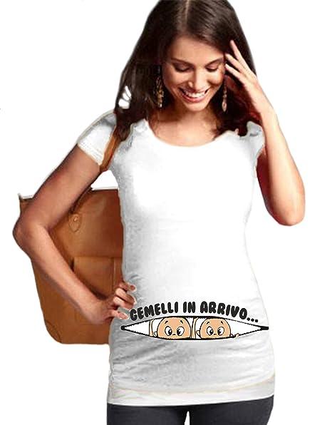 2f043d084146 fashwork Tshirt Premaman Gemelli in Arrivo - in Cotone  Amazon.it ...
