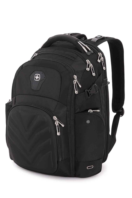 SwissGear 5709 ScanSmart Laptop Backpack. Abrasion-Resistant & Travel-Friendly School Work premium Laptop Backpack (Black Backpack) by SwissGear